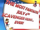 Scavenger Hunt Party Instant Download Game: The Most Fantastic July 4th Scavenger Hunt