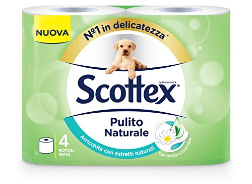 Scottex Carta Igienica Pulito Naturale - 4 Rotoli