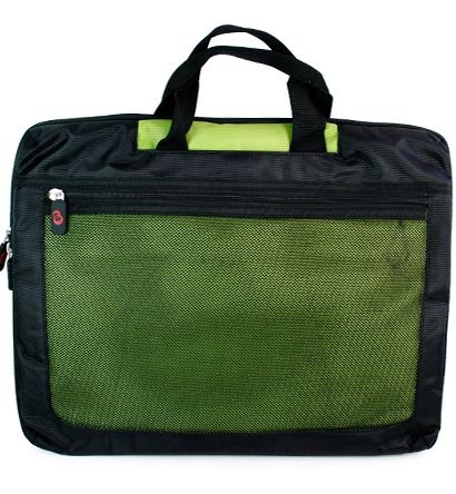 Acer 15.6 inch Notebook Laptop Aspire AS5733Z-4445 Black with Green Nylon Carry Case with Extra Pocket for accessories