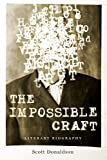 "BOOKS RECEIVED: Scott Donaldson, ""The Impossible Craft: Literary Biography"" (Penn State UP, 2015)"