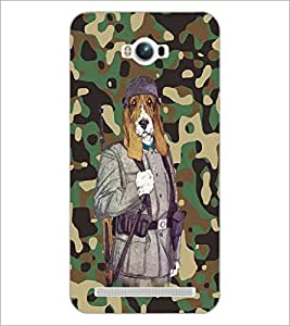 PrintDhaba Funny Dog D-4683 Back Case Cover for ASUS ZENFONE MAX ZC550KL (Multi-Coloured)