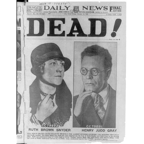 Front Page,New York Daily News,Ruth Brown Snyder,1895-1928,Henry Judd
