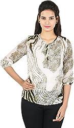 Amadeo Women's 3/4 th Sleeve Top (KRISHA21, Green, Small)