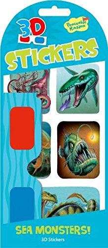 Peaceable Kingdom 3D Sea Monsters! Sticker Pack - 1