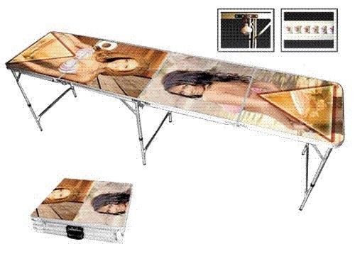 Sexy Girls Professional Beer Pong Table. This table has a unique design with