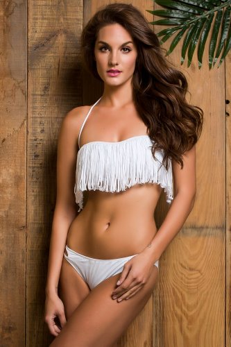 Fashion Womens Bandeau strapless Swimwear
