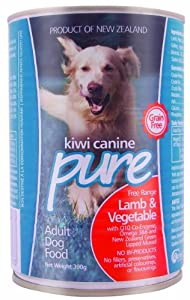 Kiwi Pet Foods Canine Pure Lamb and Vegetable for Dogs, 12 by 390gm