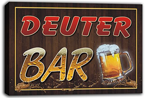 scw3-070949-deuter-name-home-bar-pub-beer-mugs-cheers-stretched-canvas-print-sign