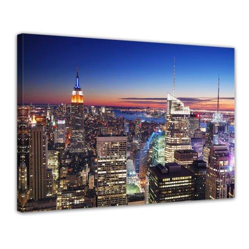 Bilderdepot24 Leinwandbild New York, New York - 70x50 cm 1 teilig - fertig gerahmt, direkt vom Hersteller