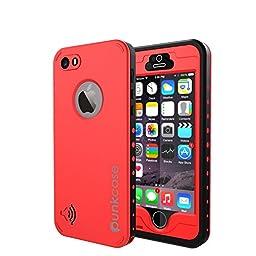 iPhone 5S/5 Waterproof Case, PUNKcase StudStar Red Apple iPhone 5S/5 Waterproof Case W/ Attached Screen Protector Lifetime Warranty