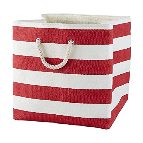 Large Storage Baskets and Bins - Store Toys, Laundry, Clothes for a Bedroom, Kids Room, Nursery, Home Office, Living or Family Room - Red (Colorful Laundry Baskets compare prices)