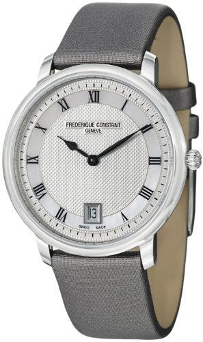 Frederique Constant Mid-size FC-220M4S36 Slim Line Grey Satin Strap Watch