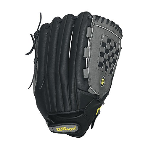 Wilson A360 Slowpitch Softball Glove, Grey/Black/White, Right Hand Throw, 14-Inch (Mens Slow Pitch Softball Gloves compare prices)