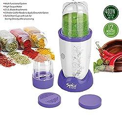 Spice Maxx 400W Hi- Speed Multipurpose Mixer, Grinder, Juicer & Blender,White & Purple