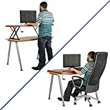 Halter Manual Adjustable Height Table Top Sit / Stand Desk (Cherry)