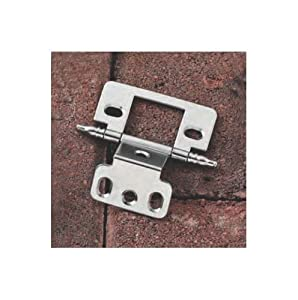 Partial Wrap Decorative Butt Hinge in Chrome Plated (Set of 10)