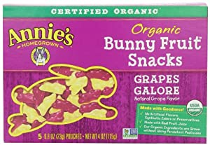 Annie's Homegrown Grapes Galore Organic Fruit Snacks, 4-Ounce (Pack of 4)