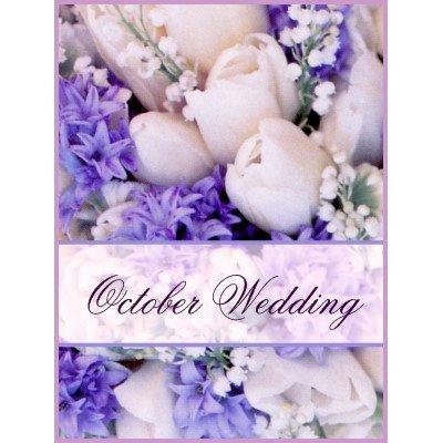Flower Bouquet October Wedding Postage Stamp