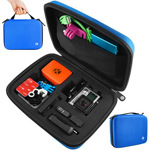 CamKix Carrying Case for Gopro Hero 4, Black, Silver, Hero+ LCD, 3+, 3, 2 and Accessories - Ideal for Travel or Home Storage - Complete Protection for Your GoPro Camera - Microfiber Cleaning Cloth