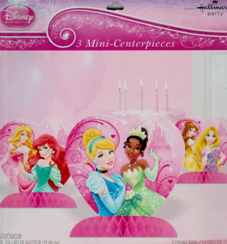 Disney Princess 'Princess Sparkle and Shine' Mini Honeycomb Centerpieces (3ct) - 1