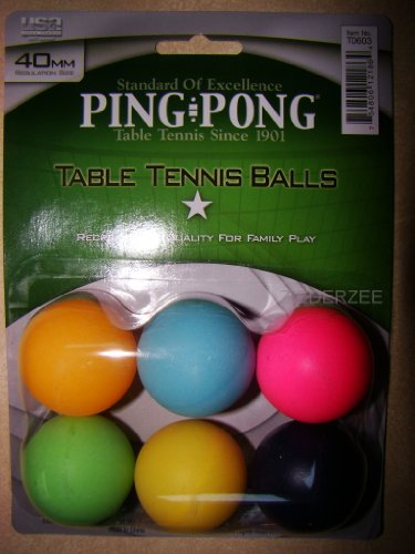Ping Pong Brand Colored Balls