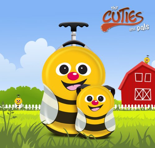 The Cuties And Pals Bee Set Luggage - Yellow