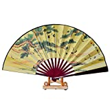 Chinese Hand Fan / Home Decor / Hand fan with stand - Big