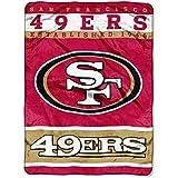 NFL San Francisco 49ers Plush Raschel Blanket, 60 x 80-Inch, Red