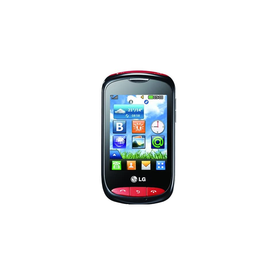 LG T310i Cookie Style GSM Unlocked Phone with 2 MP Camera, Full Touch Screen, /MP4 Player, FM Radio and Wi Fi   Black   US Warranty