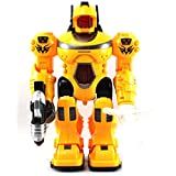 Velocity Toys Super Power Android Robot Toy Figure With Rotating Lights, Sounds, Walking Function, Colors May...
