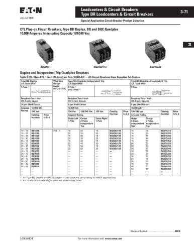 new cutler hammer bab2100 circuit breaker hardware