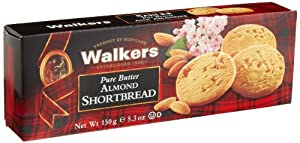 Walkers Almond Shortbread, 5.3-Ounce Boxes (Pack of 2)