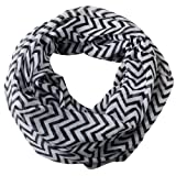 niceeshop(TM) Soft Warp Knitting Voile Chevron Sheer Infinity Scarf