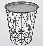 Beistelltisch-rund-Skandi-Design-Metall-grau-Tisch-Mbel-45x39x39cm
