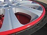 言の葉 リムオンラインストア 8m リムガード タイヤ ホイール ガード キズ防止-DIYインテリアトリム傷を,防ぎます高温テープに耐えますK-10(レッド)