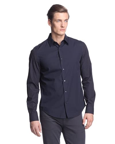 Vince Men's Contrast Circle and Dot Shirt