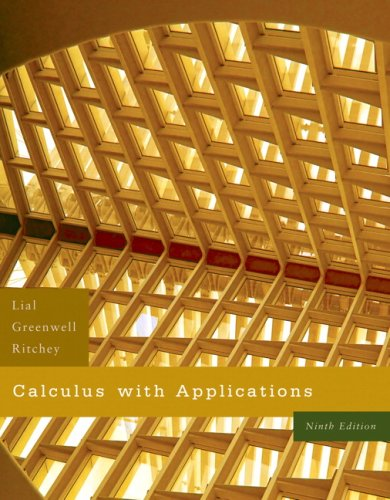 Calculus with Applications Value Pack (includes MathXL 12-month Student Access Kit  & Student's Solutions Manual for