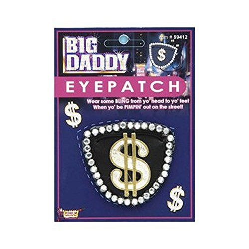 Big Daddy Costume Eye Patch - Or Pirate Treasure! 2 PACK