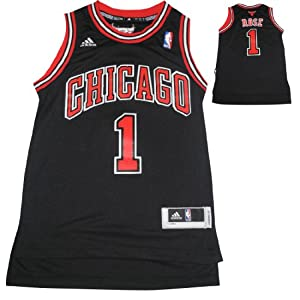 NBA CHICAGO BULLS ROSE #1 Youth Pro Quality Athletic Jersey Top with Embroidered Logo... by NBA
