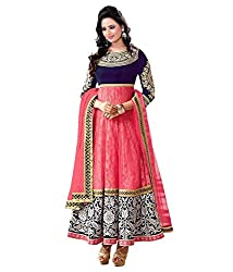 Subhash Sarees Daily Wear Pink Color Net Dress unstitched dress material