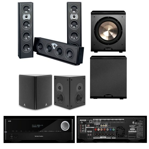 Atlantic Technology System Fs 3200 Lcr 5.1 Home Theater System-Harman Avr 3700