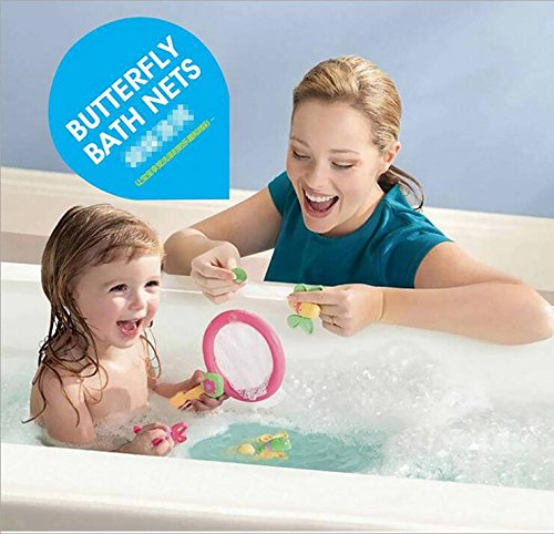bath toys 1 set of sealive butterfly bath nets bath tub toys for educating baby funny net. Black Bedroom Furniture Sets. Home Design Ideas
