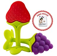 BYRO Baby Fruit Teething Toys with FR…