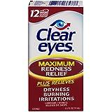 Clear Eyes Maximum Strength Redness Relief, .5 Fluid Ounce