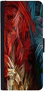 Snoogg Splash Strokes Graphic Snap On Hard Back Leather + Pc Flip Cover Apple...