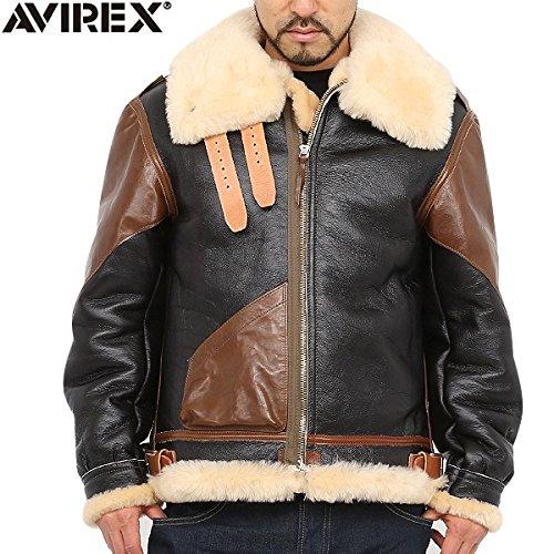 AVIREX アビレックス ヴィンテージ B-3ムートンジャケット [2131026-057]  /avj032113111 (表記36, ダークブラウン)