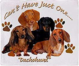CafePress Dachshund Cant Have Just One Throw Blanket - Standard Multi-color