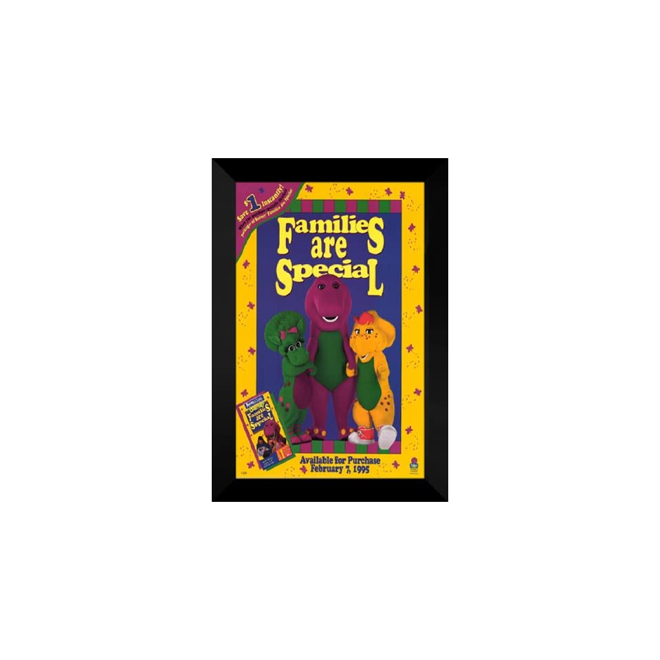Barney Families Are Special 27x40 FRAMED Movie Poster on PopScreen
