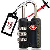 Luggage Locks TSA Approved Heavy Duty From Sureina With 3 Digits. Best Choice For Travel. Get Our Free Lifetime Warranty. A Padlock Also For Lockers At Gym, School, Cabinets, Leather Bags, Outdoors. Set Your Own Combo With And Forget About Keys Forever!