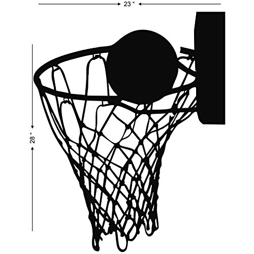 Line Art Studio Serpong : Studio briana intricate basketball net line art wall decal